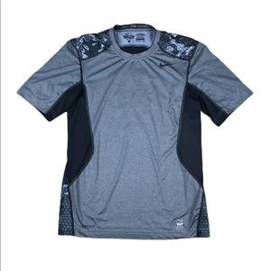 Nike Pro Combat Dri Fit Fitted Compression Shirt S